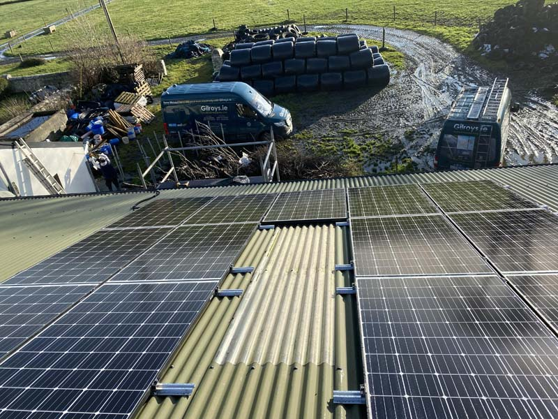 agricultural pv panel installation