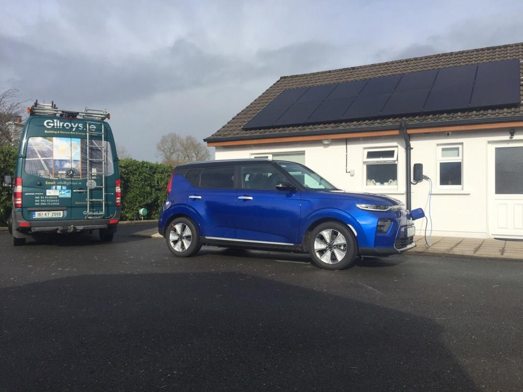 solar pv ev charger ireland cork installation