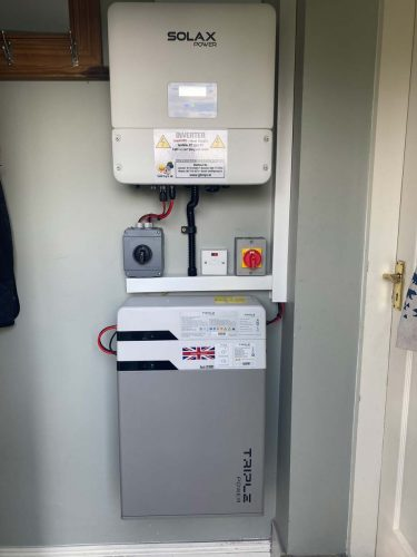 Qcell photovoltaic solar system with 4.5KWh battery storage system Waterford Batter storage system