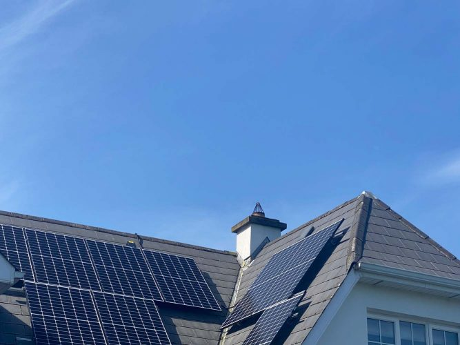 Qcell photovoltaic solar system with 4.5KWh battery storage system Waterford