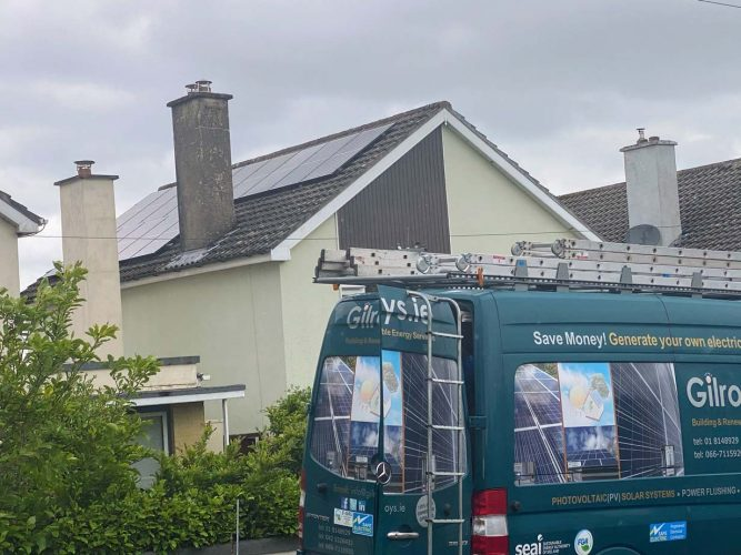 Qcell Panels photovoltaic solar system waterford
